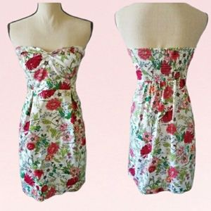 Old Navy Floral Strapless Dress Size 2